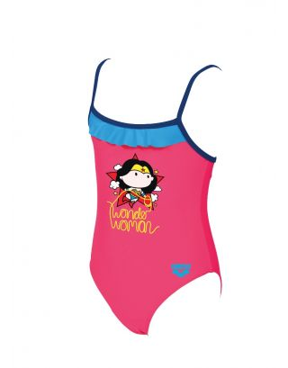ARENA - COSTUME INTERO BIMBA - WONDER WOMAN JR - 002077918 - SHINY PINK/SEA BLUE - MAXFIT