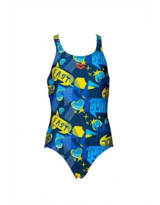 ARENA - COSTUME INTERO BIMBA - DANCING - 002348700 - NAVY/MULTI - MAXFIT