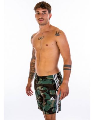 ADIDAS - PANTALONCINO/SHORT - ESSENTIALS FRENCH TERRY CAMOUFLAGE - GK9621 - GREEN