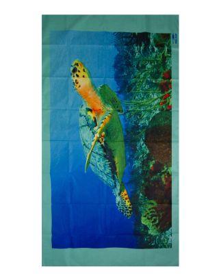 SPAZIALE SPLENDY - TELO SPIAGGIA MICROFIBRA - 150x75 - 9162 - MARINE TURTLE