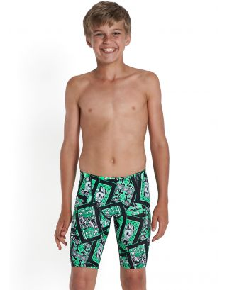 SPEEDO - COSTUME JAMMER JUNIOR - JOKER FACE ALV JAM - 09-278-9833 - BLACK/GREEN