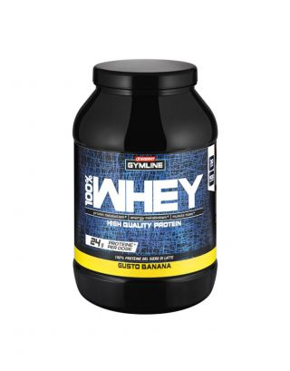 ENERVIT GYMLINE MUSCLE -100% WHEY PROTEIN CONCENTRATE-SCAD. 30/12//21-92704-BANANA-900g