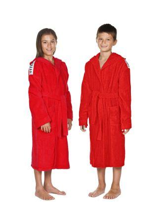 ARENA - ACCAPPATOIO SPUGNA JUNIOR - CORE SOFT ROBE JR - 002015410 - RED/WHITE