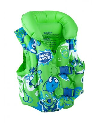 MAD WAVE - GIUBBOTTO SALVAGENTE GONFIABILE - INFLATABLE SWIMVEST - 3-6 YEARS - M075602010W - GREEN