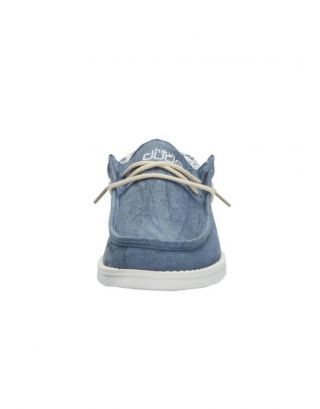 DUDE - SCARPA UOMO - WALLY LINEN - 110792132 - NATURAL BLUE