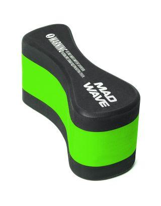 MAD WAVE - PULL BUOY - M072003000W - BLACK/GREEN