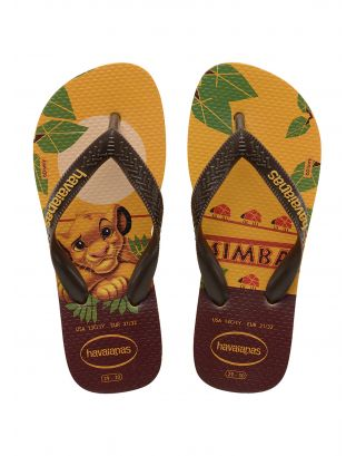 HAVAIANAS - INFRADITO KIDS - LION KING - 4144490-1652 - BANANA YELLOW