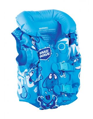 MAD WAVE - GIUBBOTTO SALVAGENTE GONFIABILE - INFLATABLE SWIMVEST - 3-6 YEARS - M075602004W - BLUE
