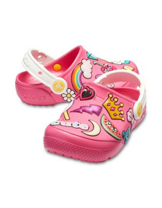 CROCS - SABOT JR BIMBA - PLAYFUL PATCHES - 205444-6NP - PARADISE PINK