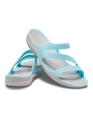 CROCS - SANDALO DONNA - SWIFTWATER SANDAL - 203998-4CV - ICE BLUE/PEARL WHITE
