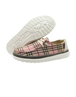 DUDE - SCARPA DONNA - WENDY PLAID - 121415022 - PINK