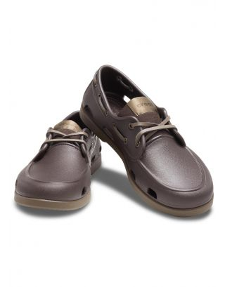 CROCS - SCARPA UOMO - CLASSIC BOAT SHOE - 206338-23B - ESPRESSO/WALNUT