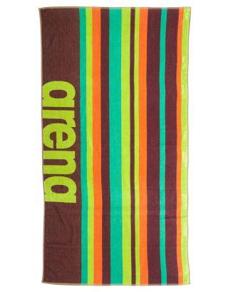 ARENA - TELO MARE - BEACH MULTISTRIPES TOWEL - 170x80cm - 002310900 - RED WINE/ARMY