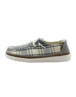 DUDE - SCARPA DONNA - WENDY PLAID - 121413130 - GREY