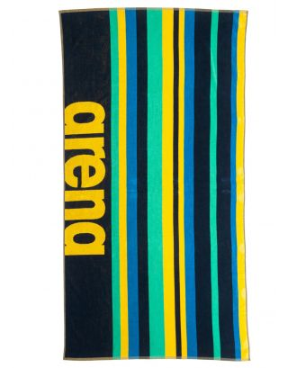ARENA - TELO MARE - BEACH MULTISTRIPES TOWEL - 170x80cm - 002310700 - NAVY/MULTI