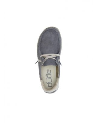 DUDE - SCARPA DONNA - WENDY SUEDE - 121903008 - DARK GREY