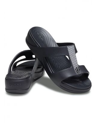 CROCS - CIABATTA DONNA - MONTEREY METALLIC - 206319-0GQ - BLACK