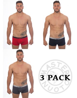 EMPORIO ARMANI - BOXER/TRUNK - 3 PACK TRUNK - 111357 6A715 20274 - RED/NAVY/GREY
