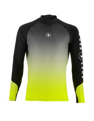 AQUALUNG - RASHGUARD NEW L/S - 0467 -  BLACK/RADIANCE LIME
