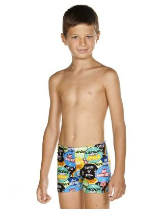 ARENA - COSTUME SHORT JR - WATCHWORD - 001722661 - SHINY GREEN/MULTI - MAXFIT