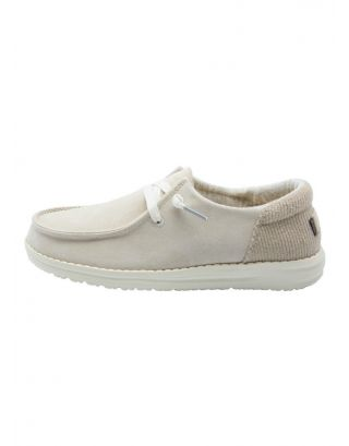 DUDE - SCARPA DONNA - WENDY SUEDE - 121900128 - OFF WHITE
