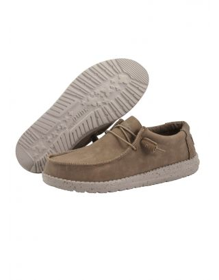 DUDE - SCARPA UOMO - WALLY RECYCLED LEATHER - 150201622 - NUT
