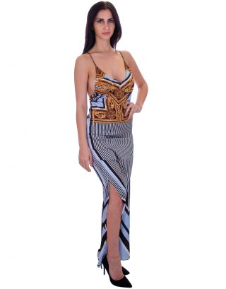 F**K - ABITO - LONG DRESS - THE VILLA - FK19-F221NR - BLACK