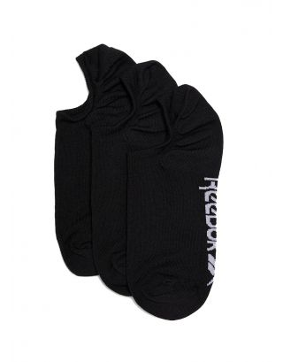 REEBOK - CALZE/SOCKS - ACTIVE FOUNDATION INVISIBLE (3 PACK) - GH0424 - BLACK