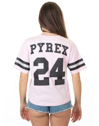 PYREX - T-SHIRT GLITTER DONNA - 19EPC40192 - PINK