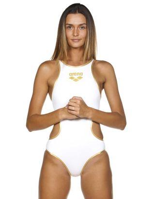 ARENA - COSTUME INTERO - ONE BIG LOGO - 001198103 - WHITE/GOLD - MAXLIFE