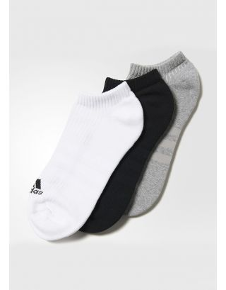 ADIDAS - CALZE/SOCKS - 3-STRIPES (3 PACK) - AA2281 - BLACK/WHITE/GREY