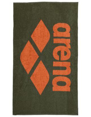 ARENA - TELO SPUGNA - POOL SOFT TOWEL - 150x90cm - 001993630 - ARMY/TANGERINE