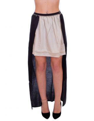 F**K - GONNA - ASYMMETRICAL SKIRT - FK19-H274NR - BLACK