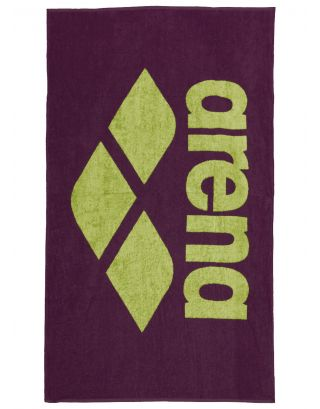 ARENA - TELO SPUGNA - POOL SOFT TOWEL - 150x90cm - 001993560 - RED WINE/SHINY GREEN