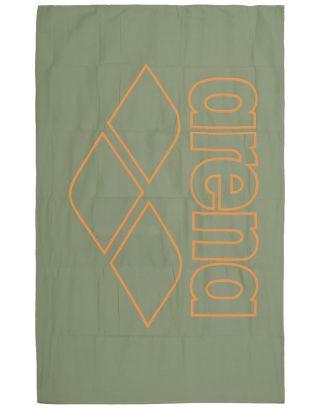 ARENA - TELO MICROFIBRA - POOL TOWEL SMART - 150x90cm - 001991630 - ARMY/TANGERINE