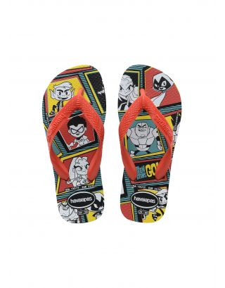 HAVAIANAS - INFRADITO JUNIOR - YOUNG TITANS - 4144662-0090 - BLACK