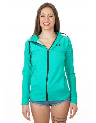UNDER ARMOUR - FELPA DONNA - FEATHERWEIGHT FULL ZIP - 1316679-349 - GREEN MALACHITE