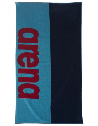 ARENA - TELO MARE - BEACH SOFT TOWEL - 170x100cm - 001956708 - SEA BLUE/NAVY