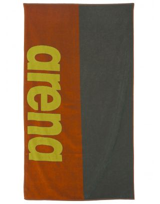 ARENA - TELO MARE - BEACH SOFT TOWEL - 170x100cm - 001956306 - TANGERINE/ARMY