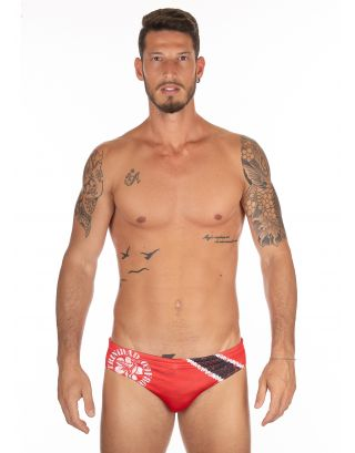 MIKASA - COSTUME SLIP/BRIEF - BEACHVOLLEY MT5013 VV18 - RED/WHITE
