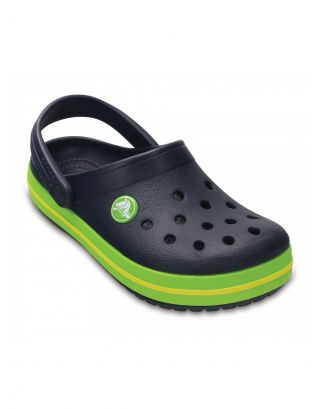 CROCS - SABOT JR UNISEX - CROCBAND CLOG KIDS - 204537-4K6 - NAVY/VOLT GREEN