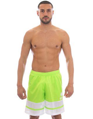 ERREA - PANTALONCINO UOMO SHORTS - R17P1H0Z05790 - FLUO GREEN/WHITE