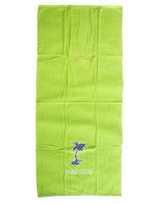 PORT CROS - TELO MARE - LOGO TOWEL - 170x90cm - LECCA LECCA - LIGHT GREEN