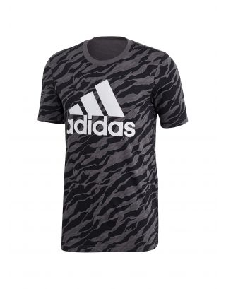 ADIDAS - T-SHIRT UOMO - ESSENTIAL ALL OVER PRINT - DN8629 - GREY