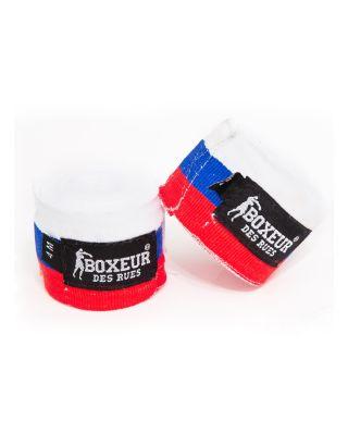 BOXEUR DES RUES - BENDAGGI/HAND WRAPS - 4M - FLAG - BX-GH03Y - RUSSIAN