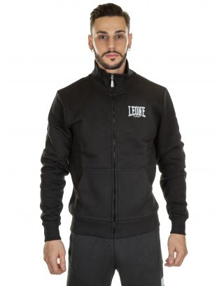 LEONE - FELPA - MAN TRUCK ZIPPED FLEECE - LSM572-09 - BLACK