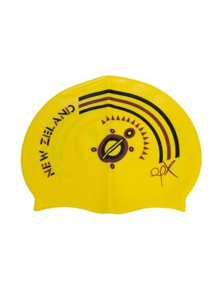 AQQUATIX - CUFFIA SMILE CAP ADULTO - NEW ZEALAND - YELLOW
