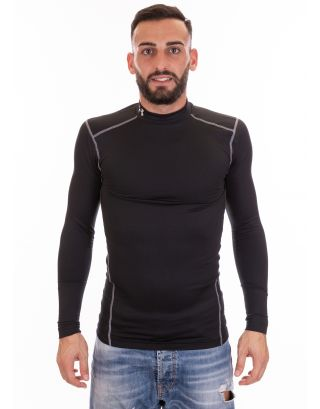 UNDER ARMOUR - MAGLIA UOMO - COLDGEAR® COMPRESSION MOCK - 1265648-001 - BLACK