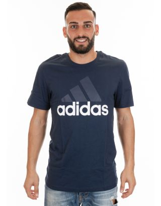 ADIDAS - T-SHIRT UOMO - ESSENTIALS LINEAR - S98732 - COLLEGIATE NAVY/WHITE