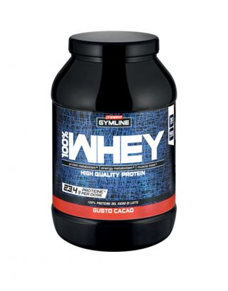 ENERVIT GYMLINE MUSCLE - 100% WHEY PROTEIN CONCENTRATE-SCAD. 10/03/23-92703-CACAO-900g